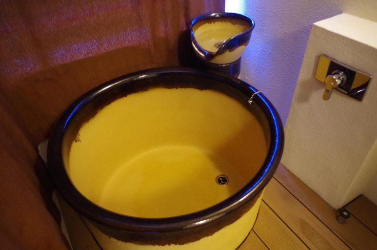 客室内の露天風呂