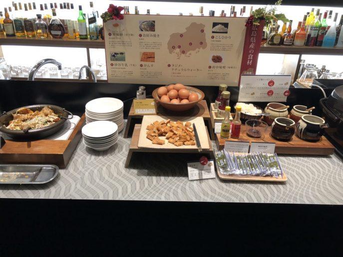 朝食バイキングで広島産の食材