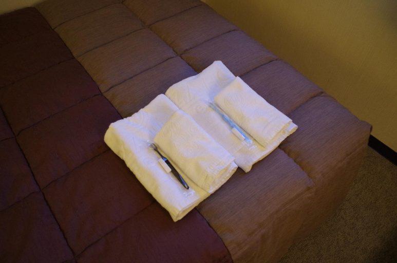 タオル類と歯磨きセット