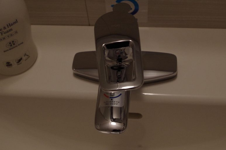 洗面台の蛇口