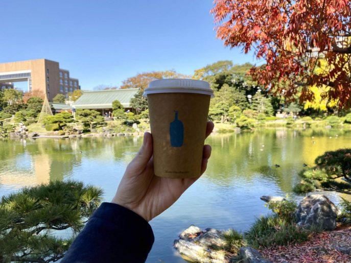 カフェラテ+清澄庭園