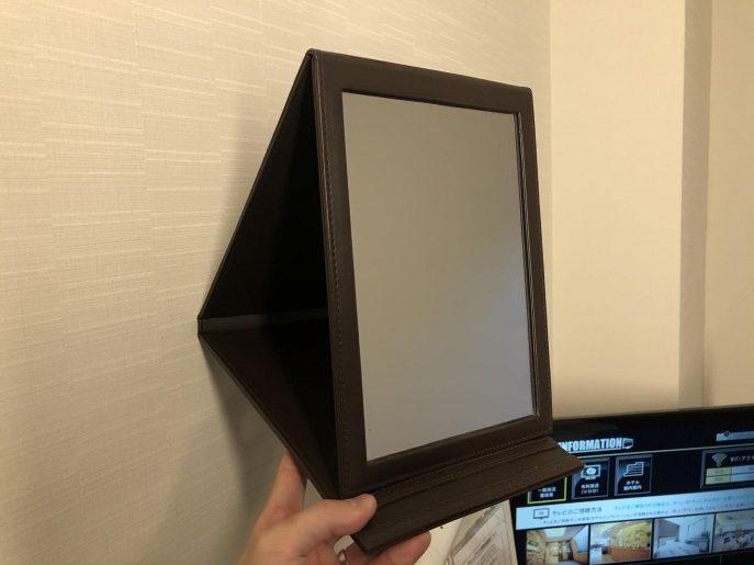 折りたたみ式の鏡