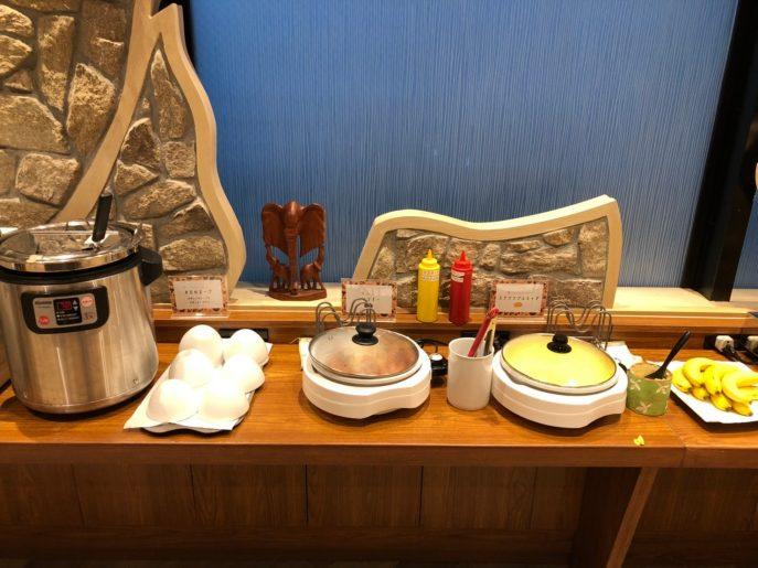 ウインナー、スクランブルエッグ、日替わりスープ