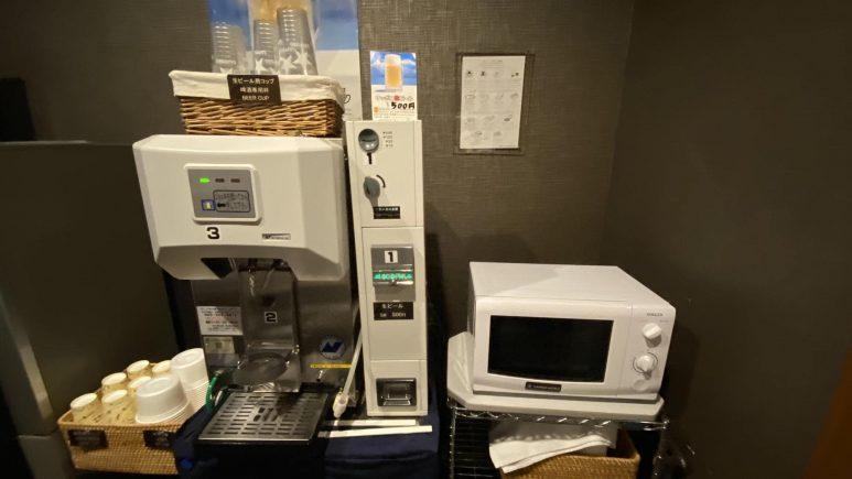 コーヒーサーバーと電子レンジ