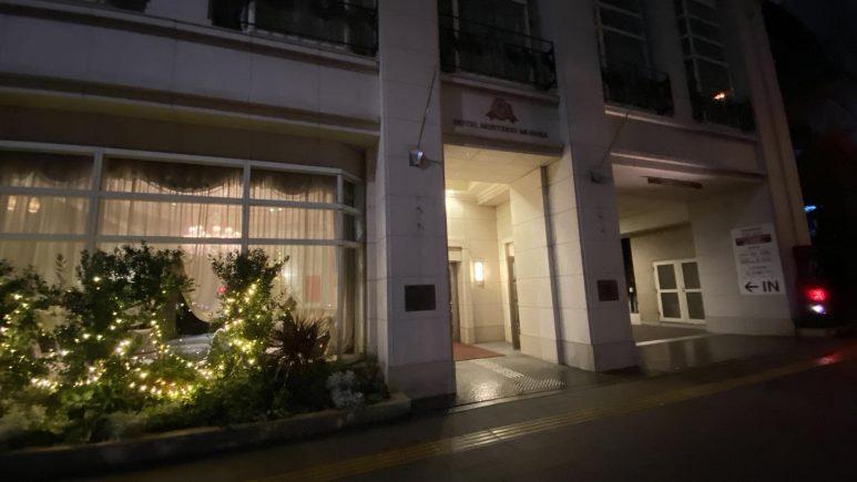 夜のホテルモントレ赤坂の外観