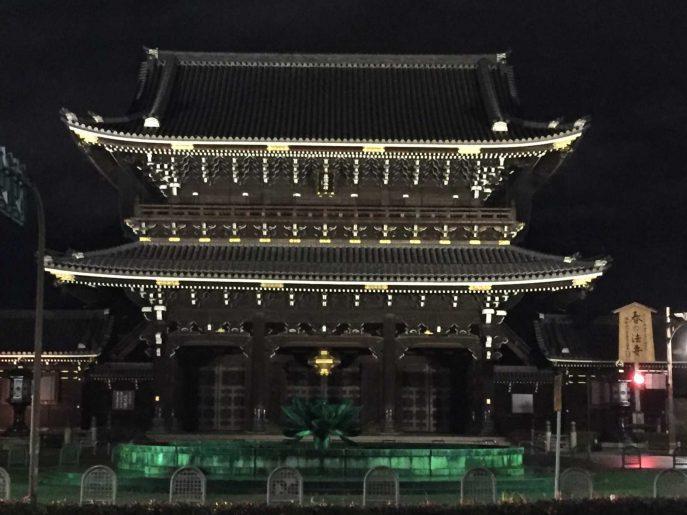 夜の東本願寺
