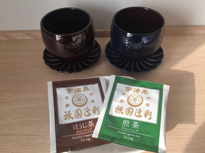 祇園辻利の煎茶とほうじ茶