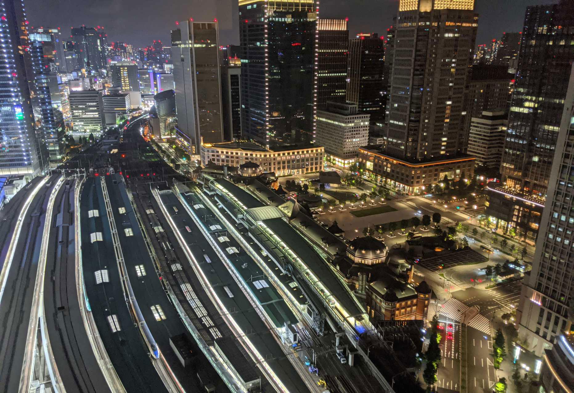 ホテルメトロポリタン丸の内からの夜景